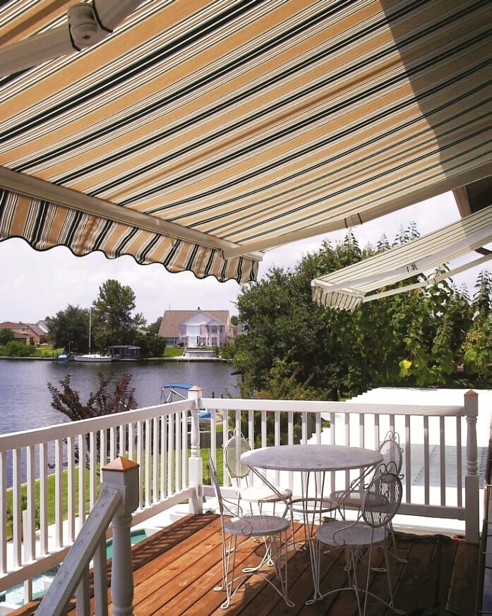 retractable awning design